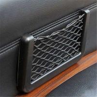 Wholesale Universal Car Net Storage Bag Back Side Seat Phone Holder Sundries Pocket Self adhesive