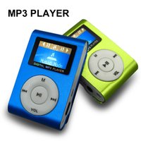 Wholesale High quality mini metal clip MP3 Player with tf card slot without accessories mini mp3 music player
