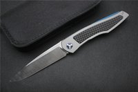 Wholesale Original Design ball bearing flipper Titanium Carbon Fiber handle S35vn blade Folding camp outdoor pocket Knife EDC tools
