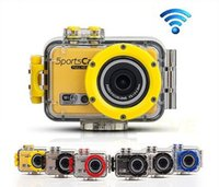 Wholesale Free DHL Gopro Sportcam Action sport camera DV F39 wifi waterproof camcorder with waterproof case wifi Control Full HD P FPS