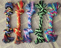 Wholesale Pets Dogs Chew Knot Toys quot Durable Braided Bone Rope Cats toys Dogs teeth health tools