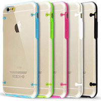 Wholesale Glow in Dark Luminous Hybrid Hard Clear transparent Crystal Plastic Soft TPU Gel cover case cases For Iphone6 Iphone G Plus