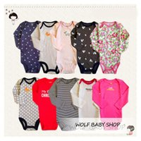 Wholesale 5pcs pack yrs long Sleeved Baby Infant cartoon bodysuits for boys girls jumpsuits Clothing new