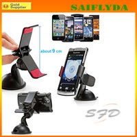 Wholesale TOP Universal Car phone Holder Windshield Cradle Phone Clip Mount Desktop Holder for Iphone plus Samsung S3 S4 S5 Note