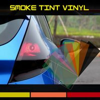 Wholesale 12 quot x24 quot Smoke Tint Vinyl Car Styling Headlight Foglight Tailight Sticker Decal Wrap Red Black Clear Blue Green Yellow Purple Pink Amber Film