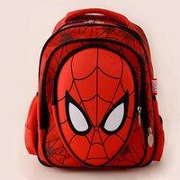 adventure backpack - School bags adventure time backpack children stereoscopic D Spiderman school bags backpacks ridge boys pupils cartoon shoulders canvas bag