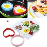 Wholesale New Silicone Omelette Shaper Fried Frying Mold Pancake Poach Egg Ring Cooking Mould