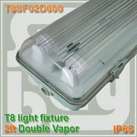 Wholesale 600mm Vapor Tight Lamp ft Two Bulb T8 T10 Fluorescent Light Fixture IP65 vapor