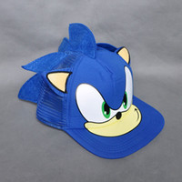 Wholesale EMS New Sonic the Hedgehog Adjustable Baseball Cap Adult Hat Cosplay Toy Blue For Gift