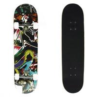 snake skateboard - 8 Plies Double Kick Concave Deck Characteristic Skull Skateboard for Primary Intermediate Free Skateboard Bag