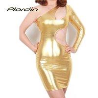 metallic mini dress - New Sexy Women Gold Shiny Metallic Bodycon Club Dress LC21260 Bodycon Mini Spectacular Amazing