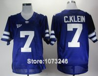 american football tops - Factory Outlet American Football Kansas State Wildcats Jerseys College Collin Klein Jersey Home Purple Embroidery And Sewing Logo Top Qua