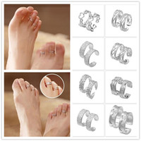 Toe Rings wholesale toe rings - Fashion Design Women Toe Rings Silver Plated Adjustable Foot Rings Modern Body Jewelry Styles Choose YBLH