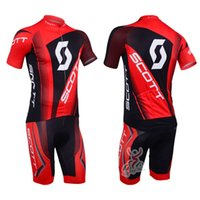bid shorts - Top short sleeves bid cycling jersey SCOTT cycling team jersey fashion men s cycling jersey bib shorts
