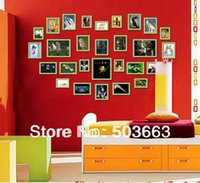 Cheap 2013 Luxury Popular 28 Pcs Wood Combination Wall Mounted Picture Photo Frame Art Home Decor L-A35
