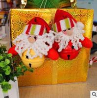 christmas decoration santa claus - 6ps Christmas Bell Santa Claus Snowman Decoration Enfeites De Natal Ornaments Supplies Accessories Decoracao De Natal s132