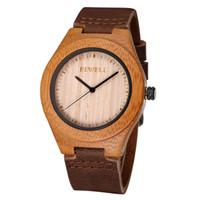 auto simplicity - BEWELL Fashion Bamboo Wood Wristwatch Men Simplicity PU Strap Quartz Watch for Wedding Anniversary Relogio Masculino