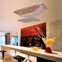 Wholesale Modern Luxury Chandelier lights Crystal Chandelier Light Clear Crystal Lamp Ceiling Light G4 bulbs Chandelier for Dining room meeting room