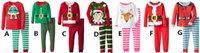 Санта костюмы Цены-Рождество Санта футболка + брюки 2шт Подходит Детские Рождественские пижамы набор мальчиков девочек длинный рукав комплект одежды Детские новогодние Одежда