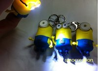 Wholesale Despicable Me Action Figure With Flashing Eyes Keychain Pendant Promotional Gifts