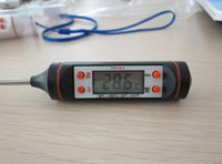 Wholesale Digital Cooking Food Probe Meat Household Thermometer Kitchen BBQ Buttons dhl