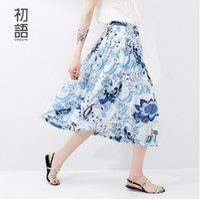 al por mayor los patrones de la falda de la vendimia-Toyouth Sundress Mujer Patrón Floral Impreso Vintage Verano Falda Bohemia Paisley Tobillo-Rodilla Playa Falda