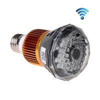Wholesale HD P Wifi IP Spy camera E27 Bulb LED Lamp CCTV Security Camcorder Nanny DV