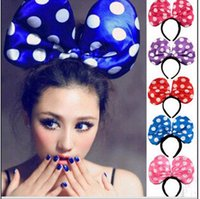 Wholesale 2015 hot sale New Year Led gifts for children fashion Mikey ears hairbands accessory Flash funny kids toys lighted headwear