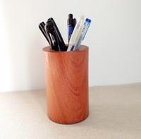 Wholesale Natural Wood Desk Storage Holder Stationary Storage Organizer Gift