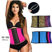 latex corsets - XS XL Colors Women Latex Rubber Waist Training Cincher Waist Training Belt Kim Waist Training Belt Underbust Corset Body Shaper Shapewear