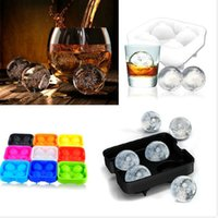 Wholesale Free DHL Bar Drink Whiskey Sphere Big Round Ball Ice Brick Cube Maker Tray Mold Mould On Sale Life