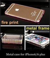 Wholesale Metal Frame Case bumber fire print case For Apple iPhone inch iphone plus quot Cell Phone Cases Covers Ultra Thin slim SCA023