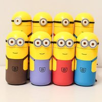 Wholesale New arrival ml Minions Cup Cartoon creative cup Hard glass Bottle Fashion outdoor travel cup JJD2231
