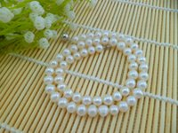 pearl - 2015 new promotion natural seawater pearl necklace special package mail