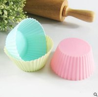 Wholesale Silicone Cake Mold Round shape Muffin Cupcake Mould Case Bakeware Maker Mold Tray Baking Cup Liner Baking Molds Silicone Baking Cake Mold