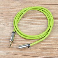 Wholesale 3 mm Stereo Audio AUX Cable wire Auxiliary Cords Metal Jack Plug Male to Female m ft for iPhone Mobile Phone