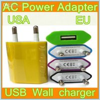 Wholesale Free DHL AC Power Adapter US Plug USB Wall Travel Charger USA EU Adapter for iphone S for Samsung Galaxy S4 Note Cellphones