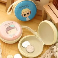 baby changing box - Korean Baby Girl Circle Coin Purse Tin Change Purse Coin Bag Coin Box Money Bag Money Box For Baby Girls Gift