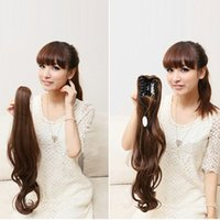 Wholesale Chic Hair Clip One Piece Girl Wavy Ponytail Hair Extensions Long Curly New
