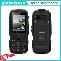 Wholesale 4800mAH Three Sim Cards CDMA Original A9 GSM Senior old man phone IP68 Rugged Waterproof phone Russian Keyboard H1 S6 xiaocai x6 a39b