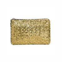 Wholesale 2016 New Fashion Women Envelope Clutch Bag Dazzling Sequins Glitter Sparkling Handbag Evening Bag for Wedding Party H12463