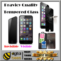 anti glare protection - Privacy tempered glass For Iphone plus invisible private protection screen protector film for Sumsung galaxy s7 s6 edge mm h antiy spy