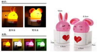 Wholesale Led small night light plug in light control sensor light energy saving lamp baby room d child wall lamp