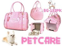 Wholesale Pink Senior crocodile pattern Korean feed pet package strapless Pet Dogs Carrier Bag