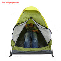 Wholesale new arrival single monolayer tent shelters for sport hiking camping outdoor gear for one single CL16