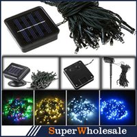 Wholesale 5Colors Solar Power White Colors LED Light LEDs Garden Fence Light Christmas Party String Fairy Lamp