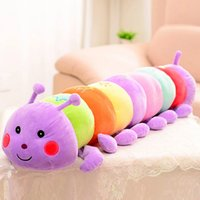 Wholesale Stuffed Animal Caterpillars - Stuffed Animals For Children Colours Caterpillar Child Plush Toys Cute Cartoon Plush Gifts Bolster For Kids 50CM 70CM 5Pcs Lot K282
