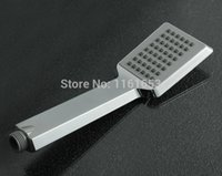 Wholesale Banheiro Chuveiros Freeshipping Single Head Chrome Douche Chuveiro Quadrado Shower Power Square Handheld Nozzle Water saving