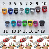 assorted temples - Mini Muslim Finger Ring Tally Counter Digital Tasbeeh Tasbih For Golf Temple Assorted Color DHL
