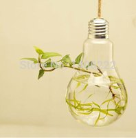 Wholesale Home glass vase modern home fashion hanging hydroponic bulbs vase novelty home decoration order lt no track